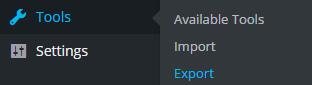 wordpress-export-menu