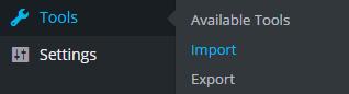 wordpress-import-menu